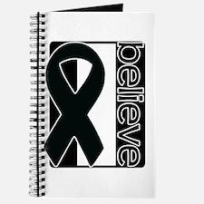 Black White Black (Believe) Ribbon Journal