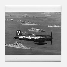 F4U-4B CORSAIR FIGHTER Tile Coaster
