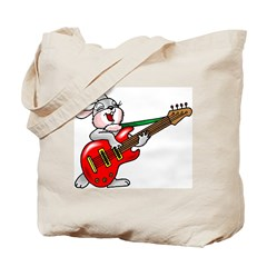 Cute Funky Rabbit Tote Bag