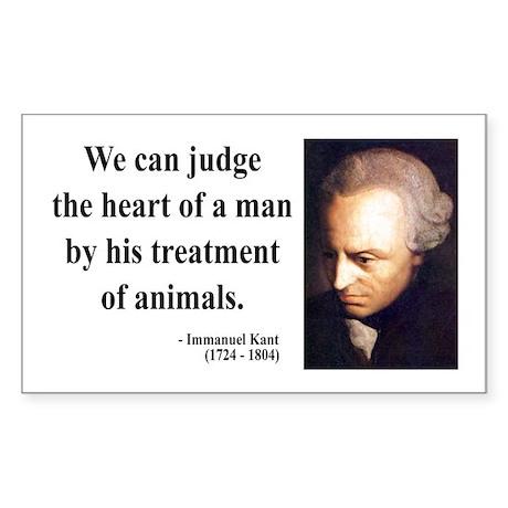 Immanuel Kant 4 Rectangle Sticker
