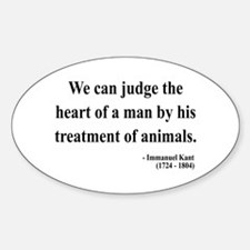Immanuel Kant 4 Oval Decal