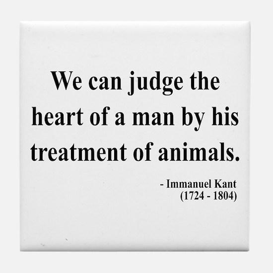 Immanuel Kant 4 Tile Coaster