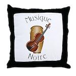 Musique Noire Throw Pillow