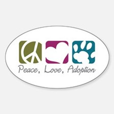Peace, Love, Adoption Oval Decal