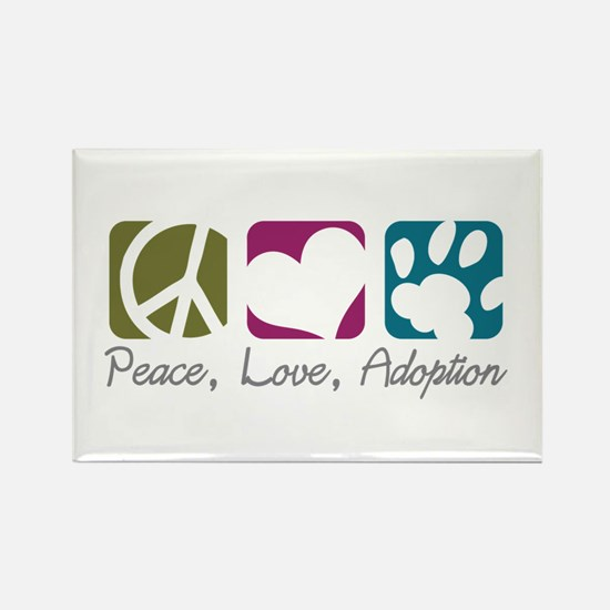Peace, Love, Adoption Rectangle Magnet (10 pack)
