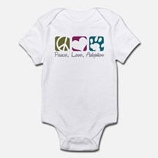 Peace, Love, Adoption Infant Bodysuit
