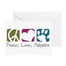 Peace, Love, Adoption Greeting Card