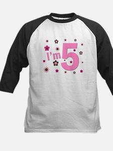 """""""I'm 5"""" Pink & Brown Flowers Tee"""