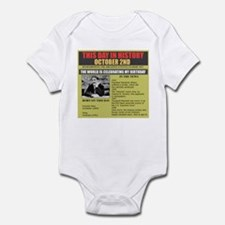 october 2nd birthday Infant Bodysuit