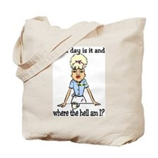 where the hell am I Tote Bag