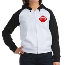 Cheval Canadien LEAF/Black Women's Raglan Hoodie