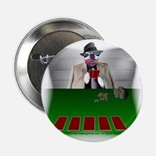 "Poker Playing Dog 2.25"" Button (10 pack)"