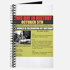 october 5th birthday Journal