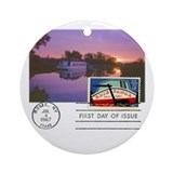 Erie canal Round Ornaments