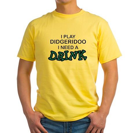 Didgeridoo Need a Drink Yellow T-Shirt