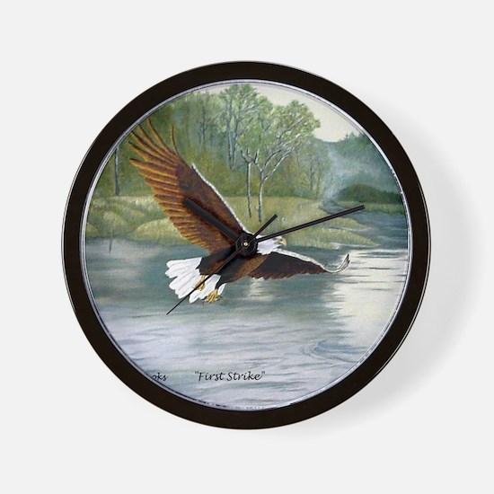 American Bald Eagle Flight Wall Clock