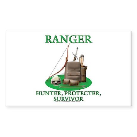 Ranger Code Rectangle Sticker