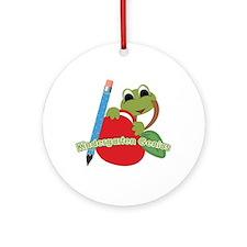 Kindergarten Genius Frog Ornament (Round)