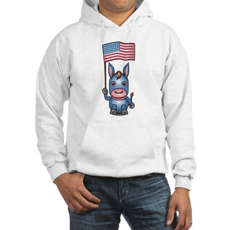 Patriotic Donkey Hooded Sweatshirt