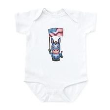 Patriotic Donkey Infant Creeper