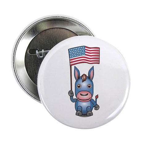Patriotic Donkey Button