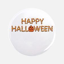 """Halloween Pumpkin & Candy Corn 3.5"""" Button (100 pa"""