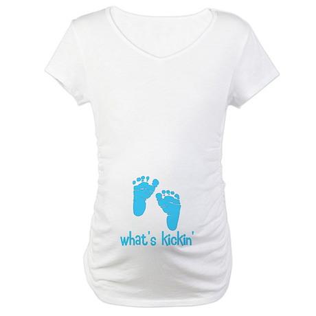 What's kickin blue Maternity T-Shirt