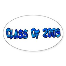 Class Of 2009 Oval Decal