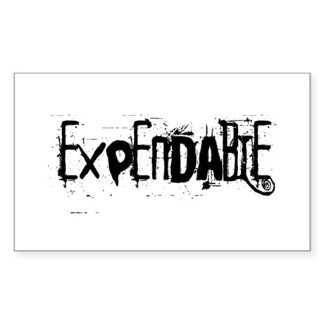 Expendable Rectangle Sticker