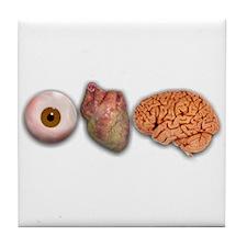 I Love Brains (Eye Heart Brai Tile Coaster