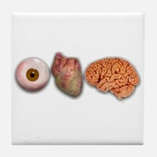 I Love Brains (Eye Heart Brai Tile Coaster