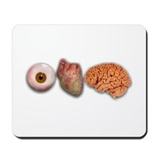 I Love Brains (Eye Heart Brai Mousepad