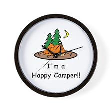 I'm A Happy Camper!! Wall Clock
