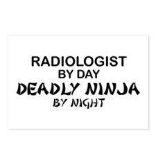 Radiologist Deadly Ninja by Night Postcards (Packa