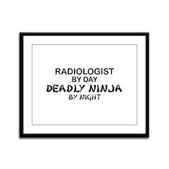 Radiologist Deadly Ninja by Night Framed Panel Pri