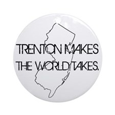 Cute Trenton Ornament (Round)
