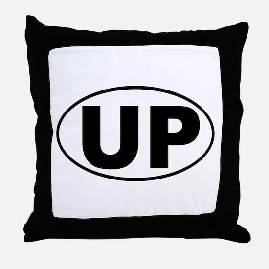The UP basic Throw Pillow