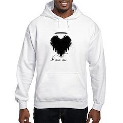 Black Heart Wings Hoodie