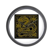 Gold Dragon Wall Clock