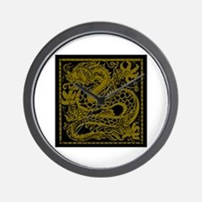 Gold Dragon Wall Clock