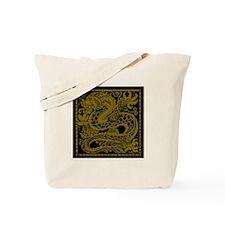Gold Dragon Tote Bag