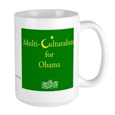 MultiCulturalists for Obama Coffee Mug (Large)