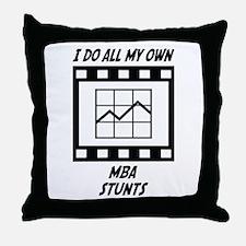 MBA Stunts Throw Pillow
