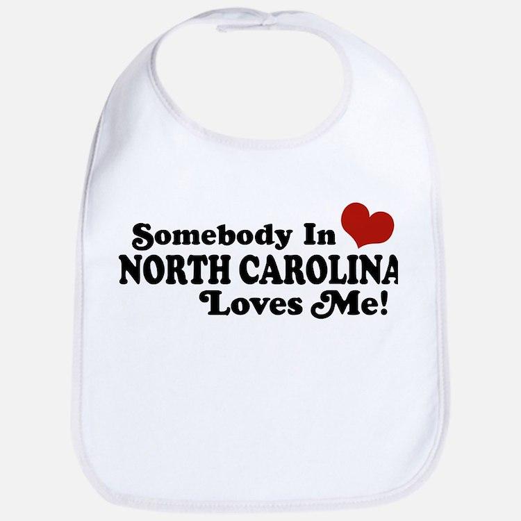 Somebody in North Carolina Loves me Bib