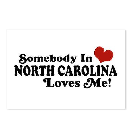 Somebody in North Carolina Loves me Postcards (Pac
