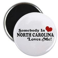 Somebody in North Carolina Loves me Magnet