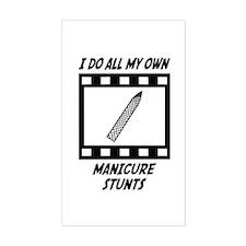 Manicure Stunts Rectangle Decal