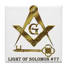 Light of Solomon #77 Tile Coaster