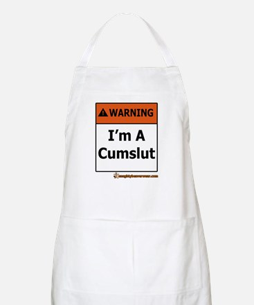 Warning I'm A Cumslut BBQ Apron