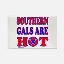 SOUTHERN GALS ARE HOT Rectangle Magnet